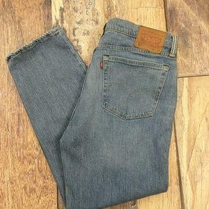 Levi's 514 White Oak Cone Denim Jeans Leather Tag